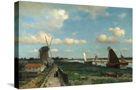 Trekvliet, 1870-Hendrik Johannes Weissenbruch-Stretched Canvas Print