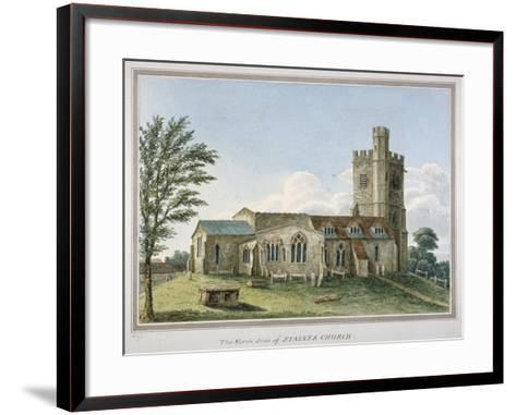 View of the North Side of the Church of St Mary, Staines, Surrey, C1800--Framed Art Print