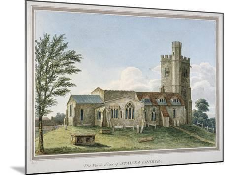 View of the North Side of the Church of St Mary, Staines, Surrey, C1800--Mounted Giclee Print
