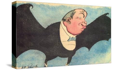 Caricature Portrait of Nikita Balieff, 1925-Nikolay Vladimirovich Remizov-Stretched Canvas Print