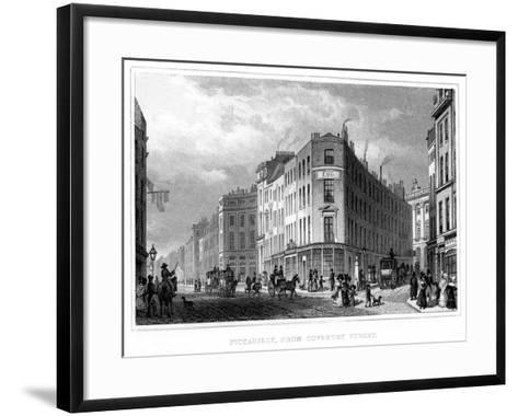 Piccadilly, from Coventry Street, Westminster, London, 19th Century--Framed Art Print