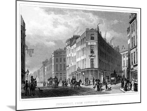 Piccadilly, from Coventry Street, Westminster, London, 19th Century--Mounted Giclee Print
