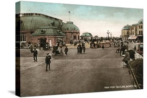 The Pavilion on the Pier, Worthing, West Sussex, Early 20th Century--Stretched Canvas Print