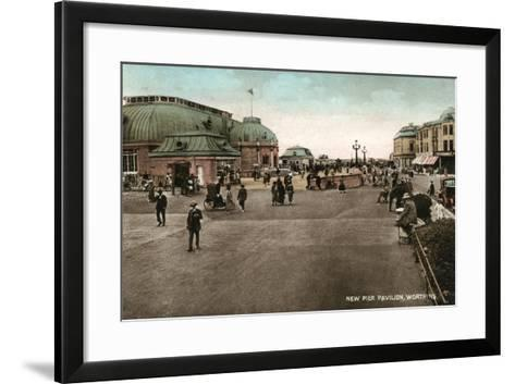 The Pavilion on the Pier, Worthing, West Sussex, Early 20th Century--Framed Art Print
