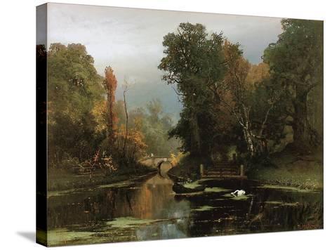Overgrown Pond (Gatchina Par), 1878-Juli Julievich Klever-Stretched Canvas Print