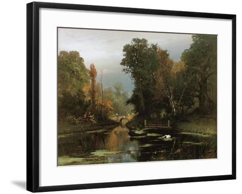 Overgrown Pond (Gatchina Par), 1878-Juli Julievich Klever-Framed Art Print