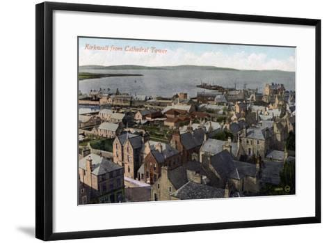 Kirkwall from the Cathedral Tower, Orkney, Scotland, 20th Century--Framed Art Print