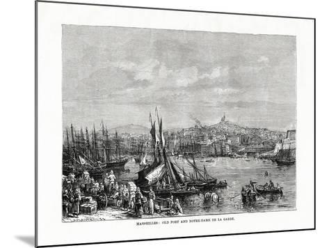 Old Port and Notre Dame De La Garde, Marseilles, France, 1879--Mounted Giclee Print