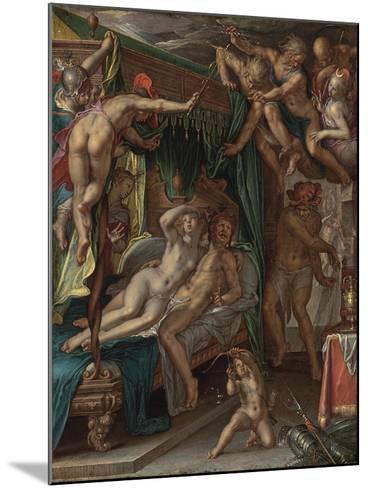 Mars and Venus Surprised by Vulcan-Joachim Wtewael-Mounted Giclee Print