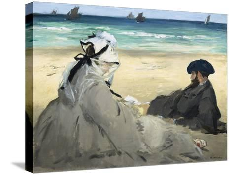 On the Beach, 1873-Edouard Manet-Stretched Canvas Print