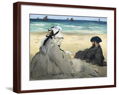 On the Beach, 1873-Edouard Manet-Framed Art Print