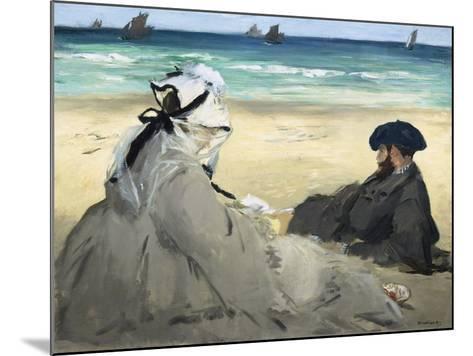 On the Beach, 1873-Edouard Manet-Mounted Giclee Print
