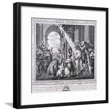 The Three Wise Men Make their Offerings to Christ and Worship Him, 1733-Paolo Veronese-Framed Art Print
