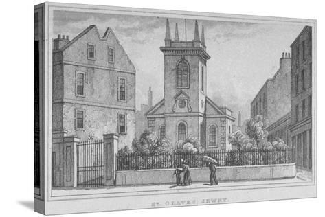 Church of St Olave Jewry, from Ironmonger Lane, City of London, 1830--Stretched Canvas Print