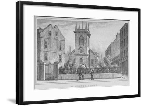 Church of St Olave Jewry, from Ironmonger Lane, City of London, 1830--Framed Art Print