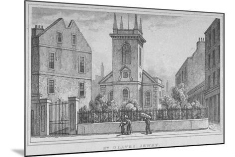 Church of St Olave Jewry, from Ironmonger Lane, City of London, 1830--Mounted Giclee Print