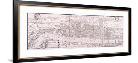 Map of London, C1560--Framed Art Print