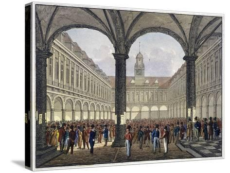 Royal Exchange (2N) Interior, London, C1830--Stretched Canvas Print