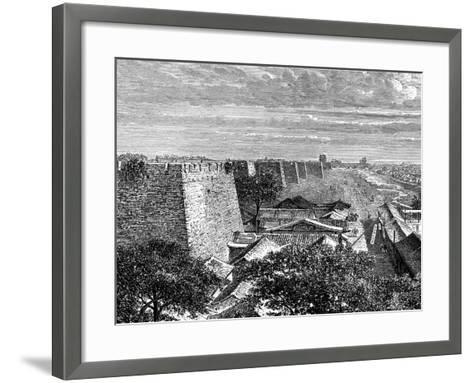 Peking's Old City Walls, China, 19th Century-Taylor-Framed Art Print