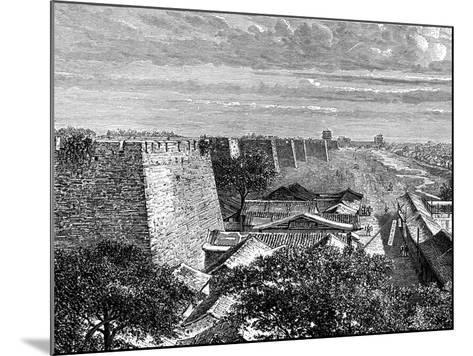 Peking's Old City Walls, China, 19th Century-Taylor-Mounted Giclee Print