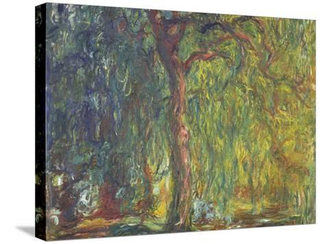 Weeping Willow-Claude Monet-Stretched Canvas Print