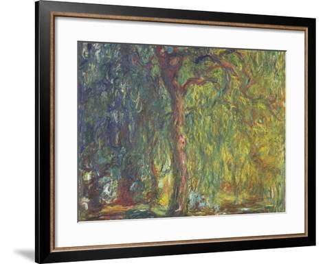 Weeping Willow-Claude Monet-Framed Art Print