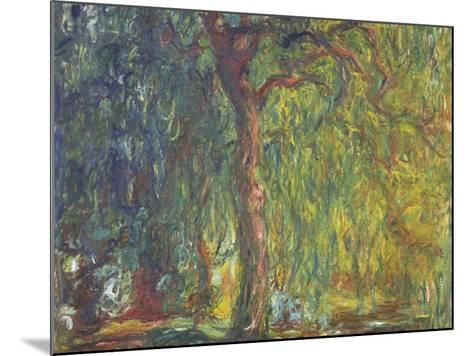 Weeping Willow-Claude Monet-Mounted Giclee Print