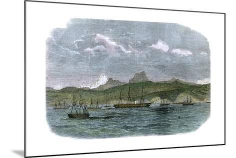 The Spanish Blockading Squadron at Valparaiso, Chile, C1880--Mounted Giclee Print