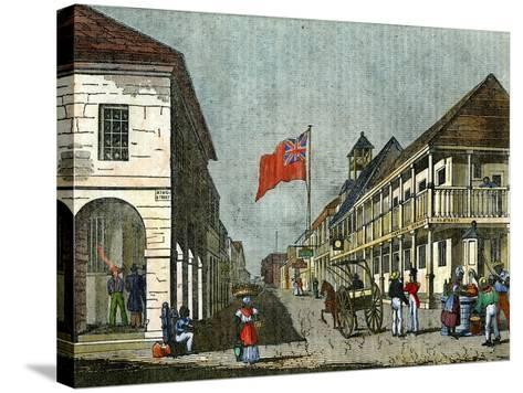 Junction of Harbour Street and King Street, Kingston, Jamaica, C1835--Stretched Canvas Print
