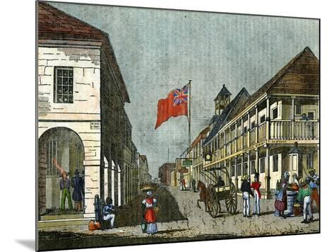 Junction of Harbour Street and King Street, Kingston, Jamaica, C1835--Mounted Giclee Print
