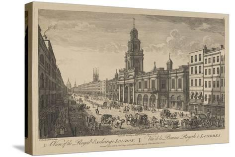 View of the Royal Exchange London, 1751-Thomas Bowles-Stretched Canvas Print