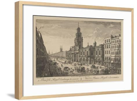 View of the Royal Exchange London, 1751-Thomas Bowles-Framed Art Print