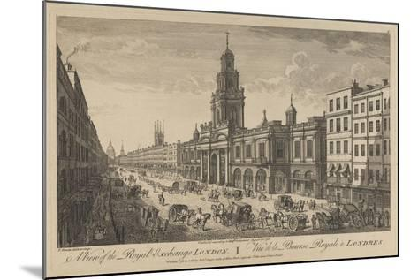 View of the Royal Exchange London, 1751-Thomas Bowles-Mounted Giclee Print