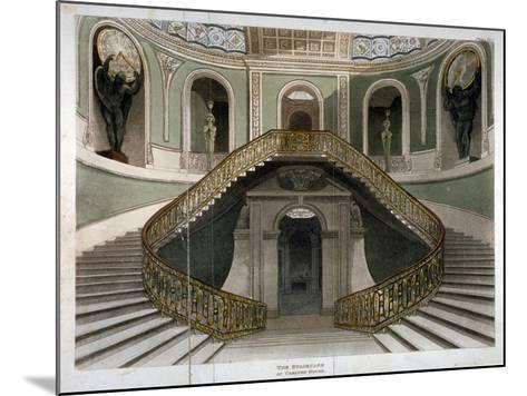 View of the Staircase at Carlton House, Westminster, London, C1811--Mounted Giclee Print
