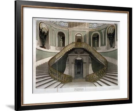 View of the Staircase at Carlton House, Westminster, London, C1811--Framed Art Print