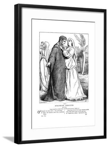 Ruth Embracing Her Mother-In-Law, 1873-Edward Hughes-Framed Art Print