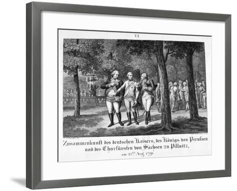 Meeting the German Emperor, 25th August, 1791, 19th Century--Framed Art Print
