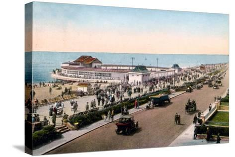 The Bandstand and Promenade, Worthing, West Sussex, Early 20th Century--Stretched Canvas Print