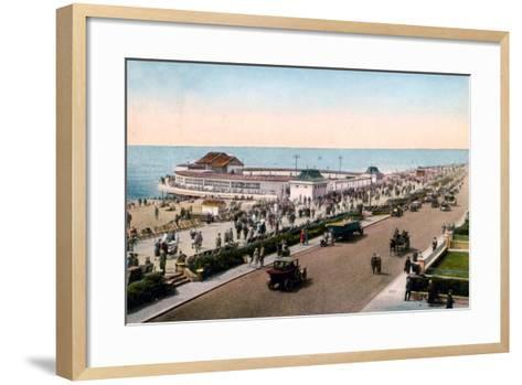 The Bandstand and Promenade, Worthing, West Sussex, Early 20th Century--Framed Art Print