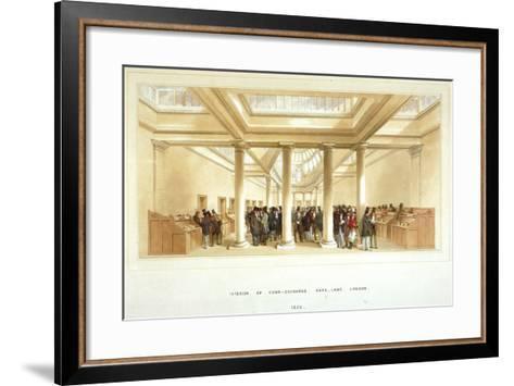 Interior of the Corn Exchange, Mark Lane, City of London, 1852--Framed Art Print