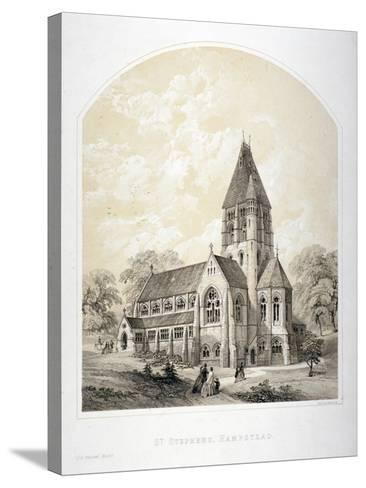Church of St Stephen, Rosslyn Hill, Hampstead, London, C1870-Day & Son-Stretched Canvas Print