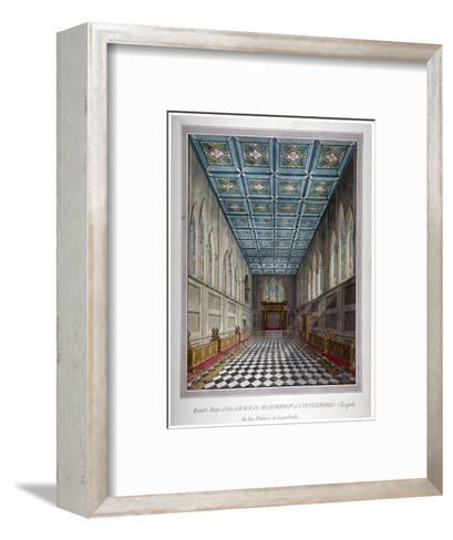 Interior View of the Chapel in Lambeth Palace, London, C1810--Framed Art Print