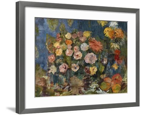 Still Life with Flowers and Fruit, 1907-Nikolai Nikolayevich Sapunov-Framed Art Print