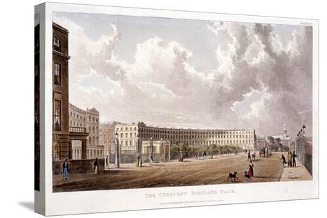 Portland Place, Marylebone, London, 1822--Stretched Canvas Print