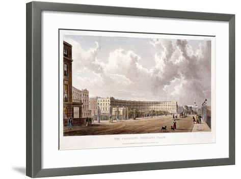 Portland Place, Marylebone, London, 1822--Framed Art Print