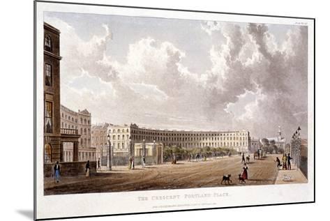 Portland Place, Marylebone, London, 1822--Mounted Giclee Print