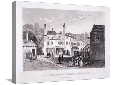 The Spaniards Inn, Hampstead Heath, Hampstead, London, C1840--Stretched Canvas Print