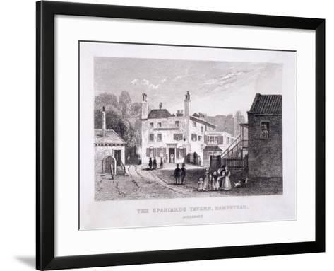 The Spaniards Inn, Hampstead Heath, Hampstead, London, C1840--Framed Art Print