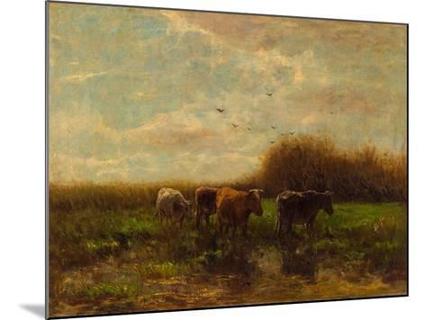 Cows at Evening-Willem Maris-Mounted Giclee Print