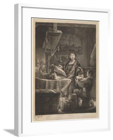 Jan Uytenbogaert, the Goldweigher, 1639-Rembrandt van Rijn-Framed Art Print